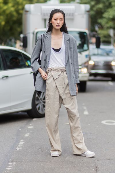 New York Fashion Week Street Style Spring 2018 | StyleCaster Fisherman's trousers