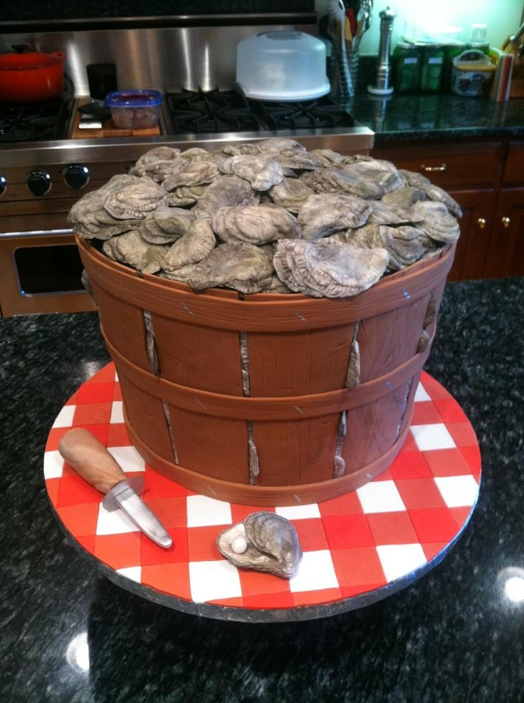 CAKE for an oyster roast engagement party by the amazingly talented @Anna Echols