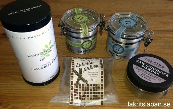 Test of liqourice powder