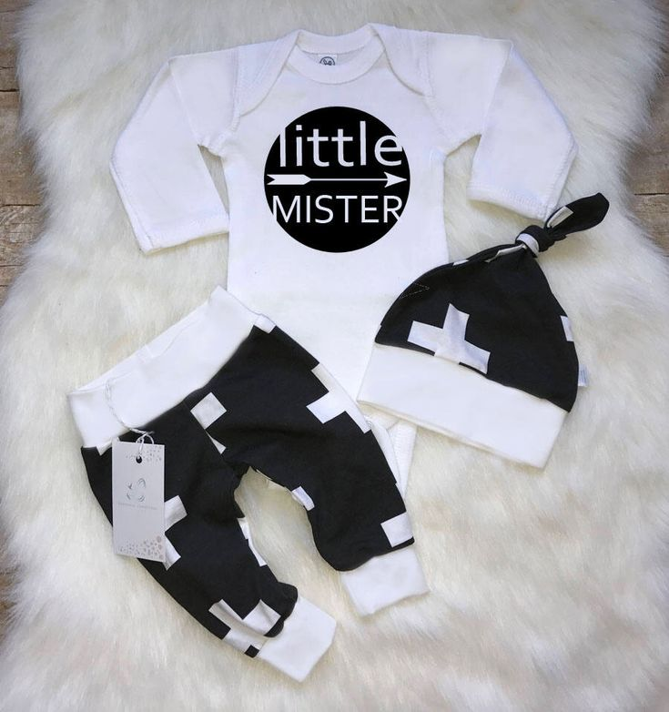Coming Home Baby Boy Outfit Newborn Boy Clothes  Baby Boy Leggings Baby Shower Gift Little Mister Swiss Crosses Outfit Black and White by LLPreciousCreations on Etsy https://www.etsy.com/listing/549299186/coming-home-baby-boy-outfit-newborn-boy