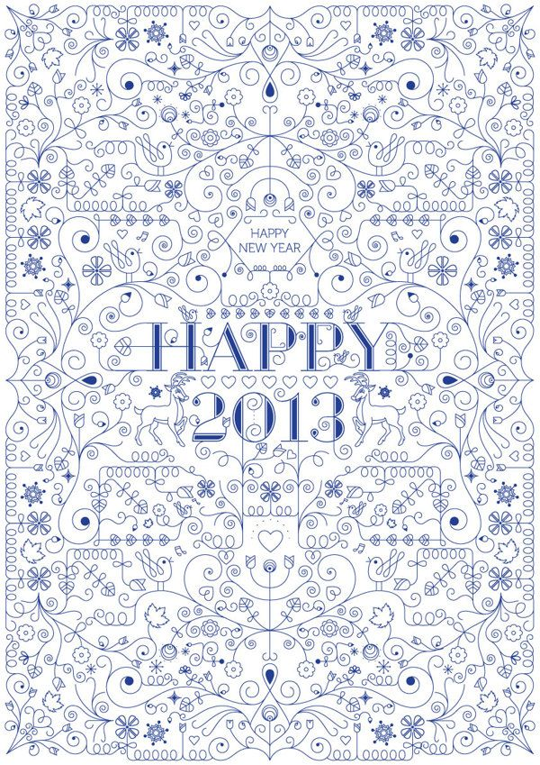 New Year Greeting by Mustafa Saifee, via Behance