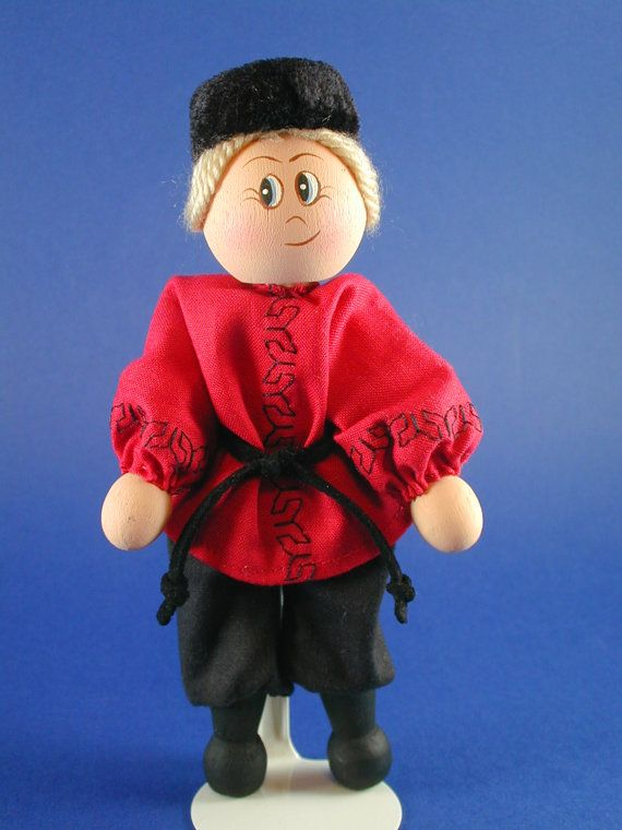 Russian Boy Clothespin Doll on Etsy, $18.89 AUD