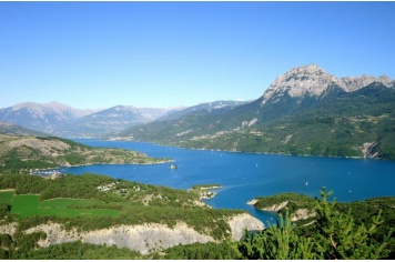 Stage 17 - Embrun / #Chorges. At the foot of the Natura 2000 Piolit-Pic de Chabrières site, Chorges is located on the Via Domitia, an ancient roman route that connected Rome to southern Spain as early as 118 b.c. Upon reaching Chorges, the riders will have the blue waters of Lake Serre-Ponçon as a backdrop. #LeTour2013