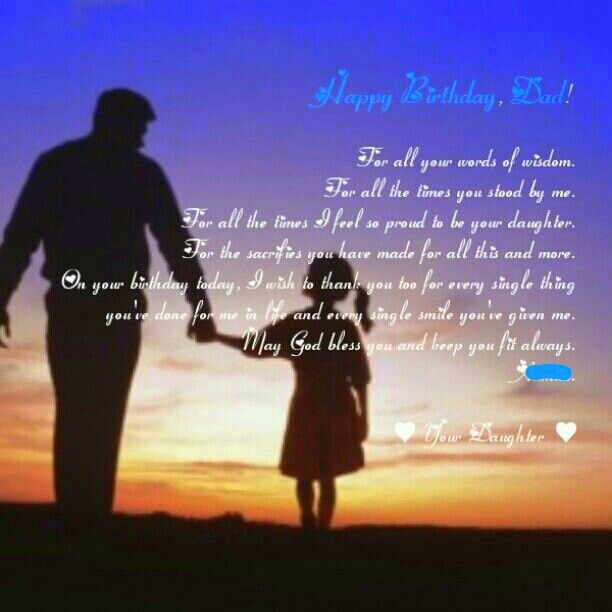 Happy Birthday Quotes For Your Daddy: Happy Birthday Father Quotes. QuotesGram