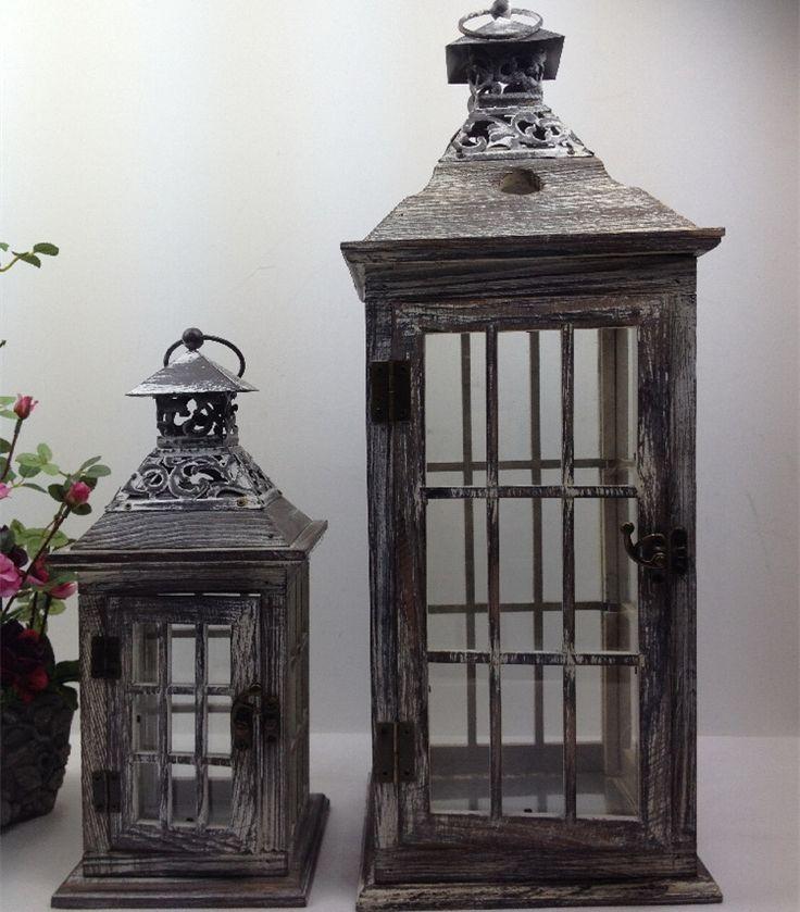 Есть старые железные дерево ретро переносная лампа фонарь комната декор подсвечник ветрозащитный мягкая снаряжение свадьбы украшения купить на AliExpress