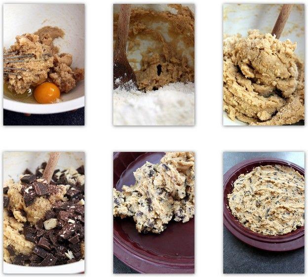 Vous aimez les cookies ? Difficile de n'en manger qu'unquandils sont bien craquants à l'extérieur et terriblement moelleux à l'intérieur n'est-ce pas ? Et bien la solution idéale, gourmande et tellement évidente (oui après coup !) c'est le cookie géant