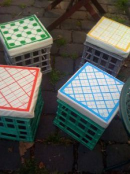 milk crate chairs