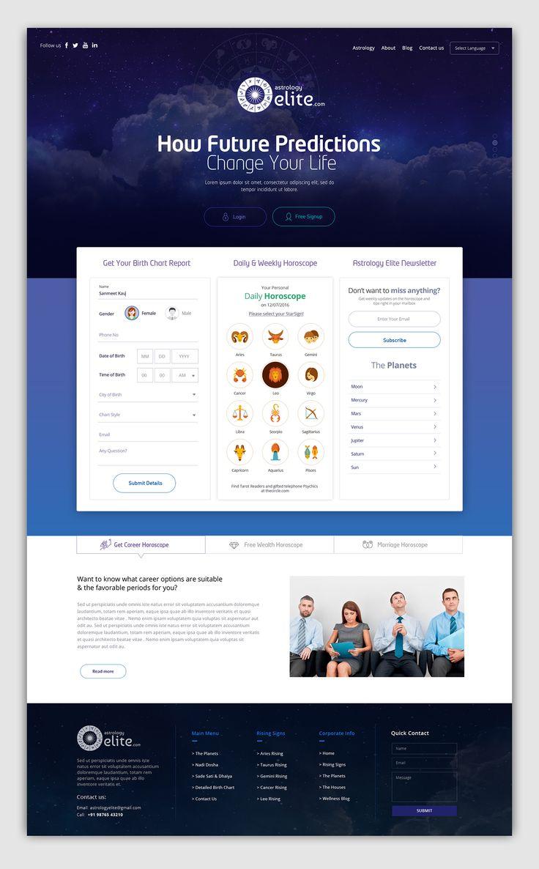 Astrology Elite Webdesign on Behance