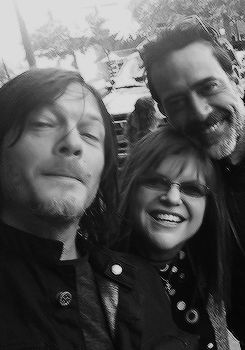 Lucky fans met Norman Reedus and Jeffrey Dean Morgan in Georgia on May 10, 2016