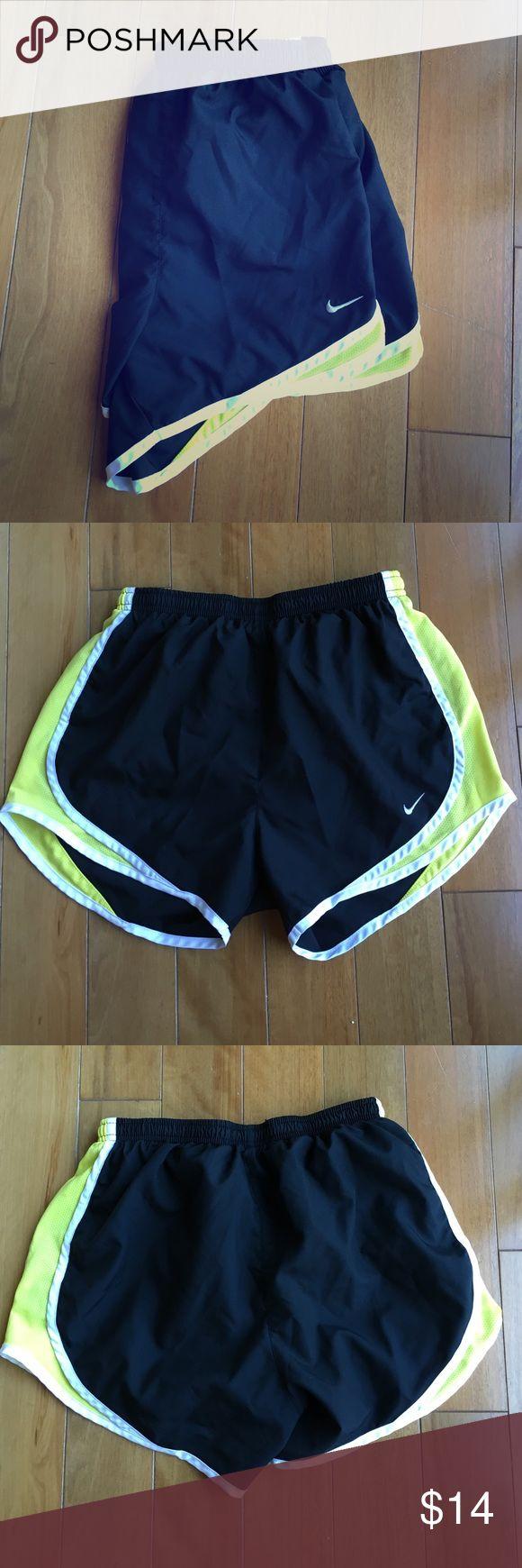 Nike Dri-Fit Shorts XS Nike Dri-Fit shorts. Black, yellow, and white. Only worn a couple times. Nike Shorts