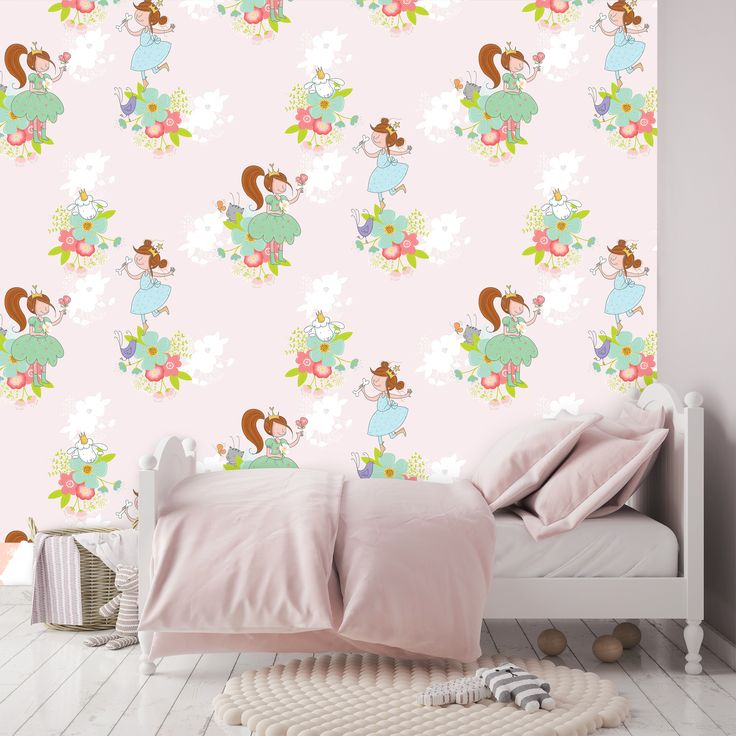 turn your little girlu0027s room into a happy flower field with this lisa u0026 lilly flower wallpaper use this wallpaper to encourage your child to play