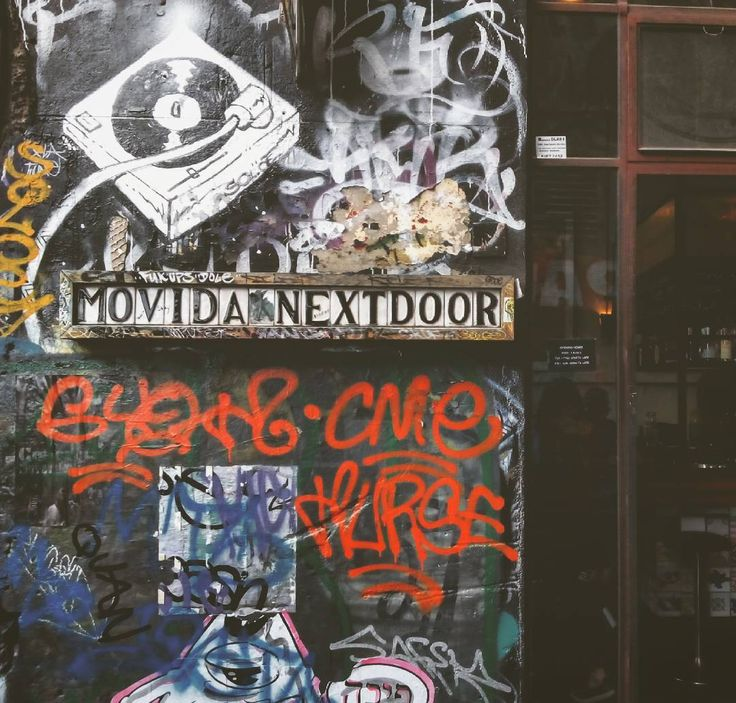 Movida #streetart #movida #bar #spanish #restaurant #lane #cbd #melbourne #streets #urban #city #underground #streetphotography #vinyl #graffiti #wall #australia by detoursbycarlos