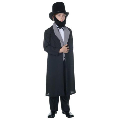 Abraham Lincoln Boys Child Halloween Costume, Black