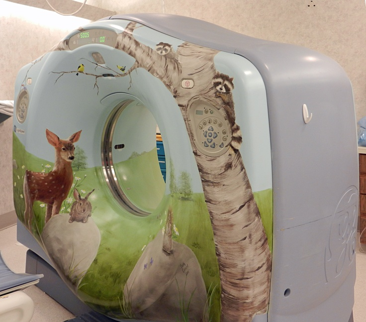 Mural painted on ct scanner toledo hospital 39 s pediatric for A mural is painted on a