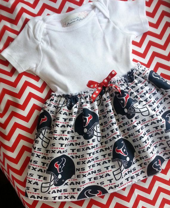 Houston Texans Baby Girls Boutique Dress Onesie.....how cute!!!!!