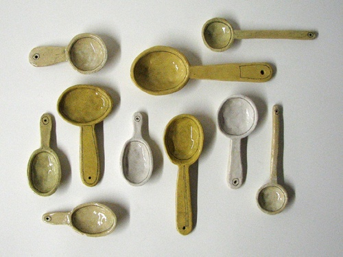 clay spoons by Diana Fayt