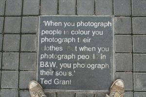 Black and White photography...pretty sweet quote