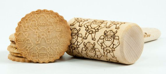 Northmen, Viking, Vikings, Thor, Vikings, Skaninavian deities, Normal line pattern. Embossing rolling pin with Nord Europe Folk pattern. My