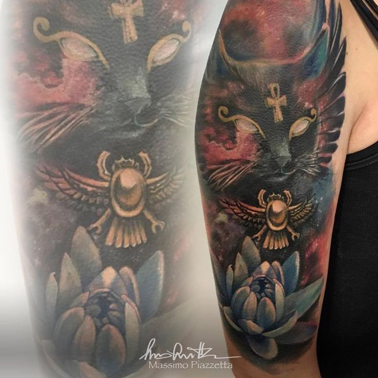 Best 25 egyptian cat tattoos ideas on pinterest bastet for Revival tattoo and piercing
