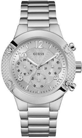 GUESS Women's Silver-Tone Sport Watch