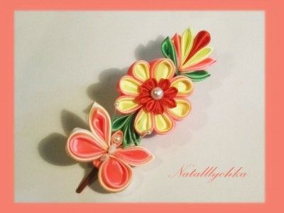 Butterfly N Flower Kanzashi Pinterest Butterfly