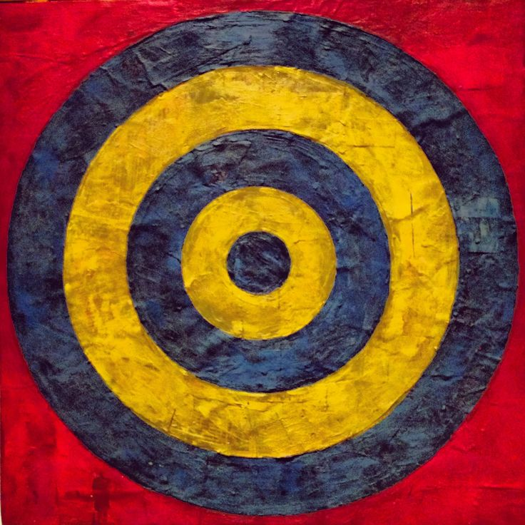 Jasper Johns Target with Four Faces, detail, MoMA | paint ...