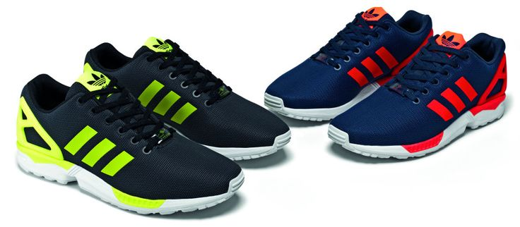 Those blue and reds though! Adidas ZX Flux Base Pack August. Flux your stuff.