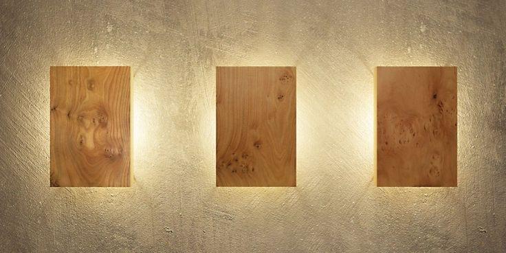 Wandleuchten aus Holz von uniic mit indirektem Licht