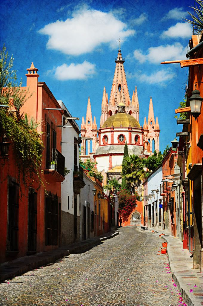 View from the street in front of Hotel Matilda in San Miguel de Allende.