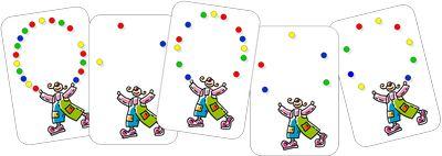 Plusieurs jeux : du style bataille (de 1 à 10 et de 1 à 20), d'association nombre et écriture chiffrée, de plateau avec des jetons.
