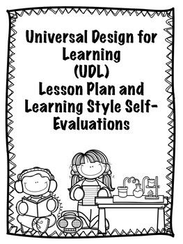 Universal design for learning lesson plan and learning - Universal design for learning lesson plans ...