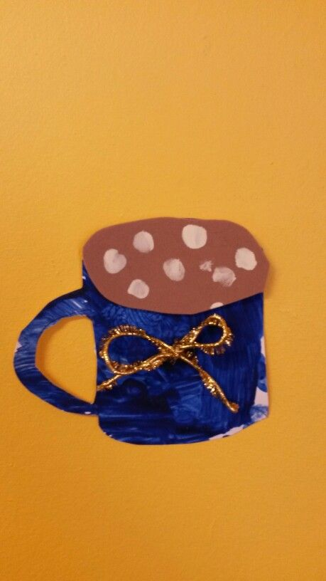 Blue hot chocolate mug