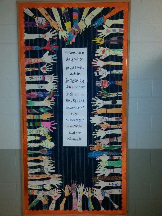 Diversity bulletin board or door decoration--great for MLK Day and Black History Month!: