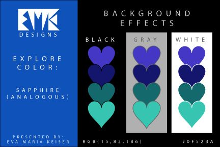 Eva Maria Keiser Designs: Explore Color Background Effects: Sapphire (Analog...