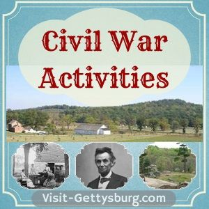 Free games and fun printables about the American Civil War -- Visit-Gettysburg.com