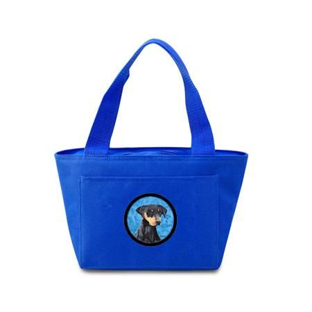 Blue Doberman Lunch Bag or Doggie Bag SC9126BU