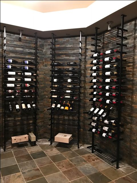 Contemporary Steel Wine Rack