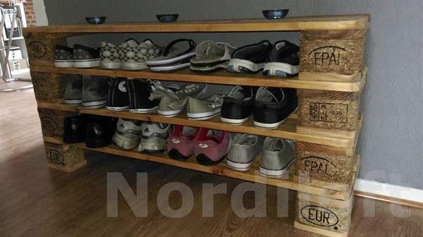 Schuhschränke - Palettenmöbel-Schuhregal No.2 - ein Designerstück von Nordiloft bei DaWanda