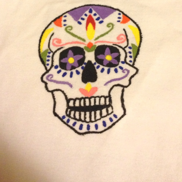 Day of the dead hand painted onesie Hand painted, Dead