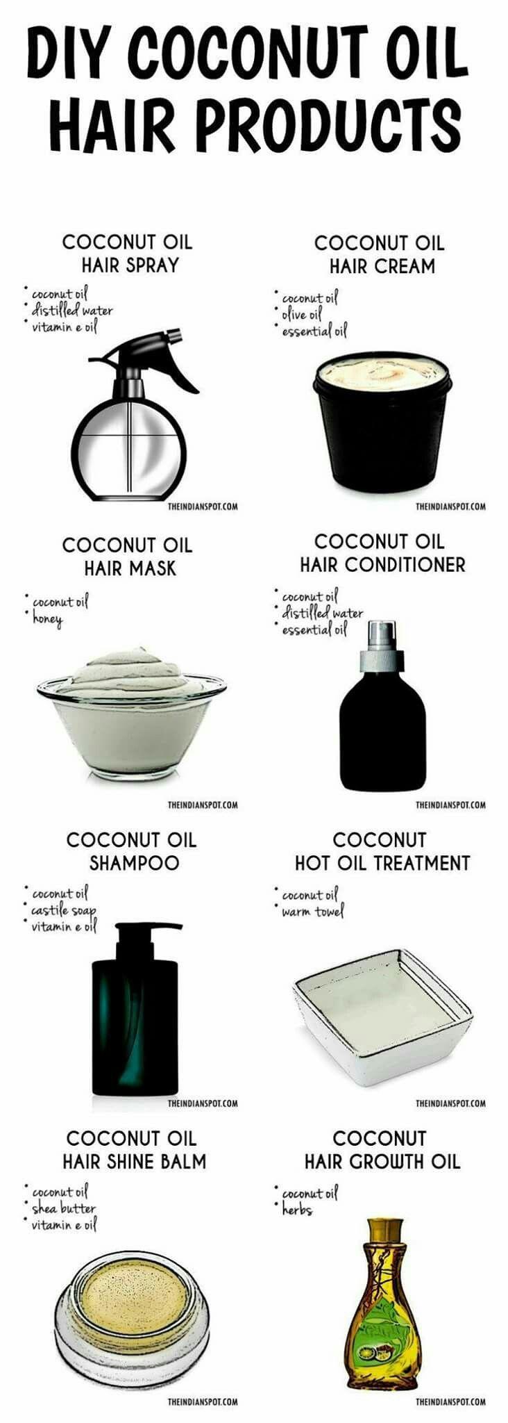 Diy coconut oil hair products coconut oil diy hair