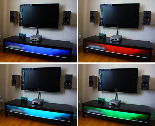 DIY Project: LEDs Brighten Up Ikea TV Unit | Apartment Therapy