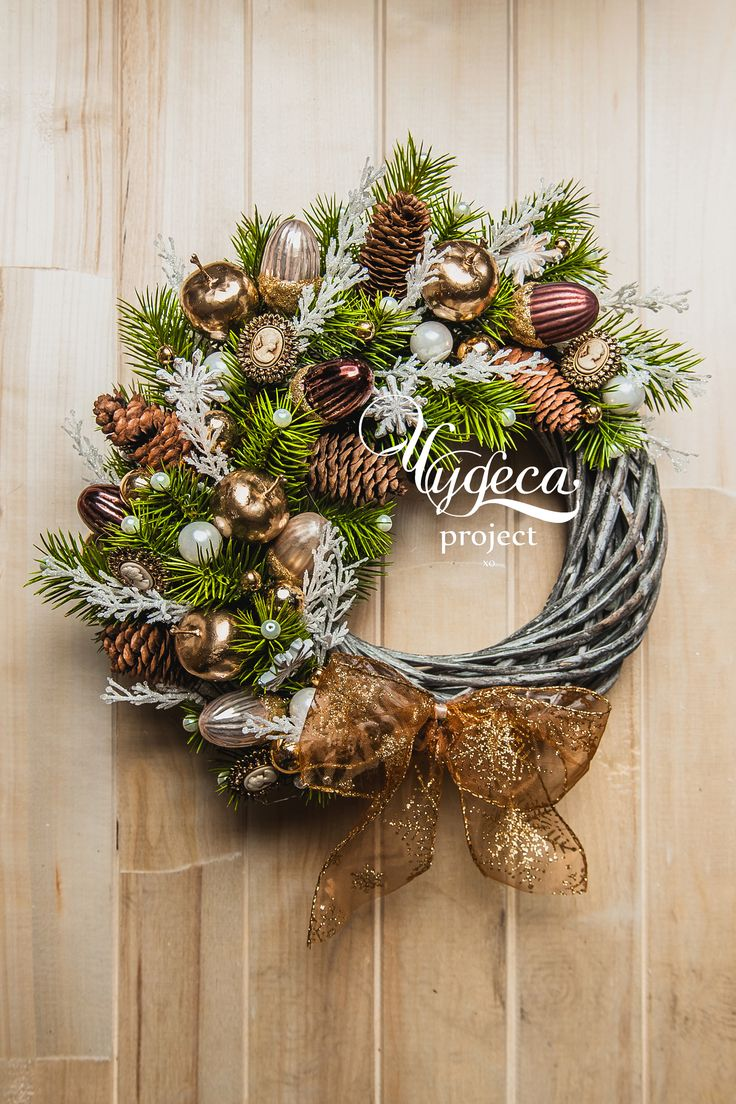 Christmas wreath Новогодний венок vk.com/chudesaproject  chudesapro.com