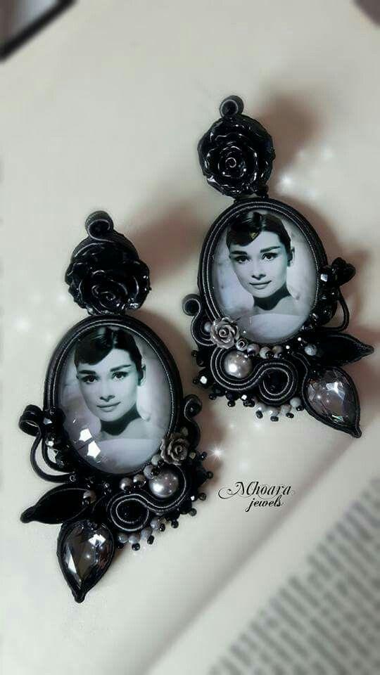 ' Rétro ' soutache earrings rétro style by Mhoara Jewels