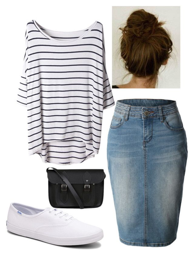 Modest Is Hottest by apostolicgirl85 on Polyvore featuring Keds and The Cambridge Satchel Company