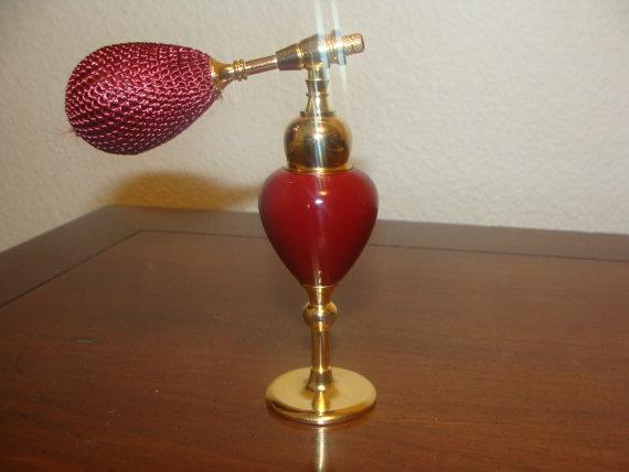 Vintage Style Perfume Spray Empty Glass Bottle by catherinefarrens, $9.00