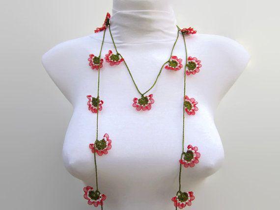 Beaded Crochet NecklaceCrochet necklaceCrochet bead by scarfnurlu