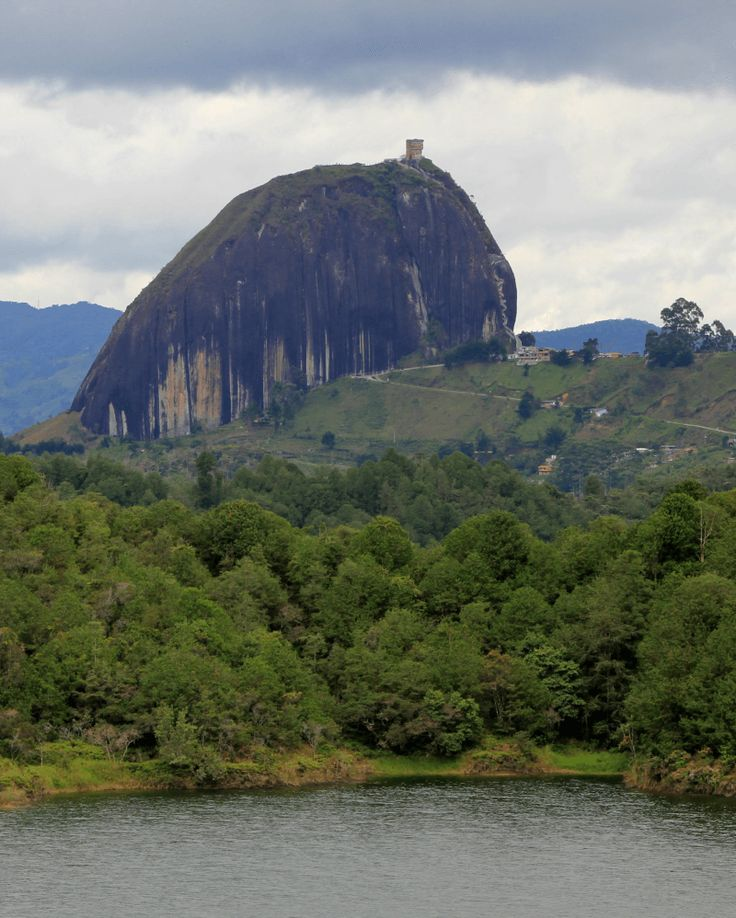 Guatape is only a day trip away from Medellin, the city of eternal spring. An important landmark in Guatape is 'El Penol de Guatape'.