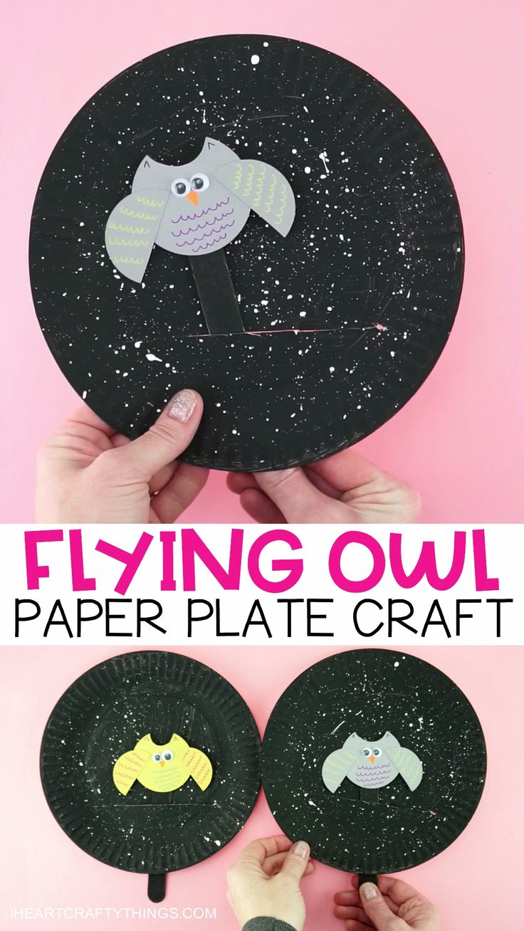 DIY Craft Idea – Flying Owl in the night  – Kita Pappteller