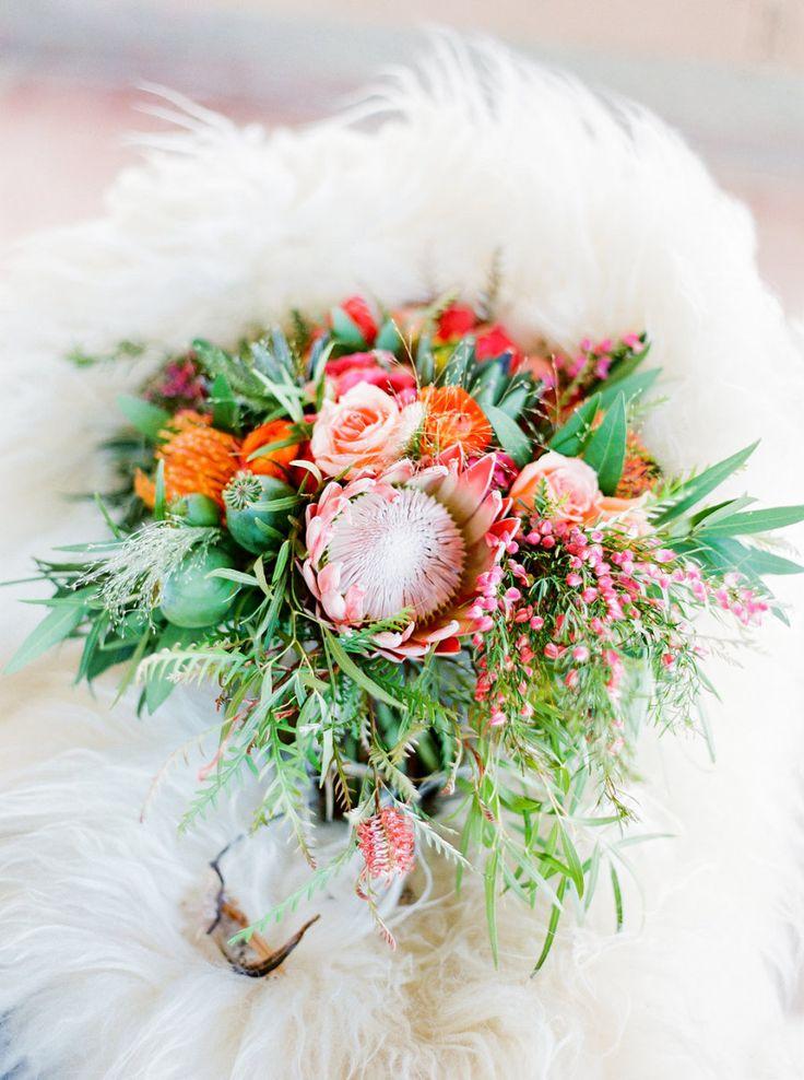 Floral Design: Atelier De LaFleur - http://www.stylemepretty.com/portfolio/atelier-de-lafleur Photography: Elyse Hall Photography - elysehall.com   Read More on SMP: http://www.stylemepretty.com/2016/10/04/colorful-same-sex-desert-wedding/