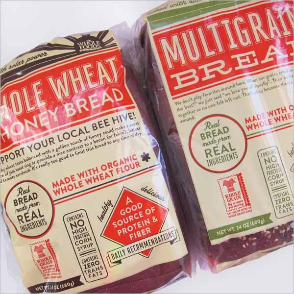 whole foods market bread packaging